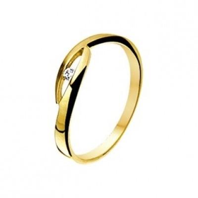 Foto van Geelgouden ring met zirkonia 40.14439