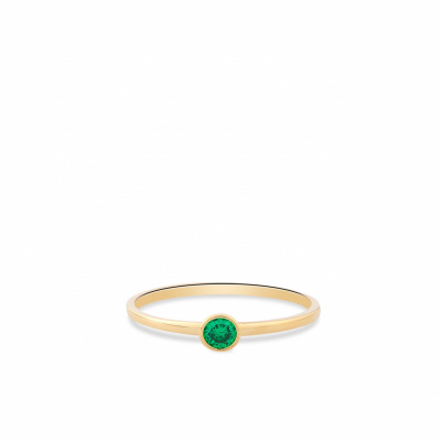 Geelgouden ring met zirkonia RDC01-4299