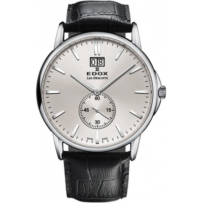 EDOX LES BEMONTS ULTRA SLIM BIG DATE 64012 3 AIN