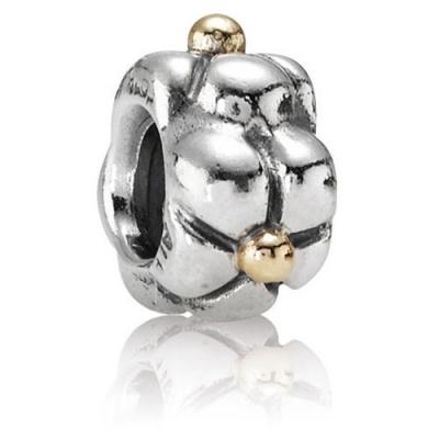 Foto van Pandora 790125 zilver met goud bedel bloem