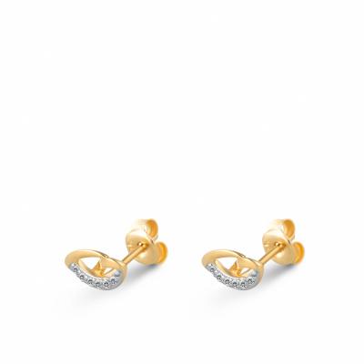 Foto van Geelgouden oorknoppen met zirkonia van Swing Jewels EMDC01-0896
