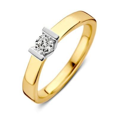 Foto van Ring bicolor briljant 0,20crt RG416839