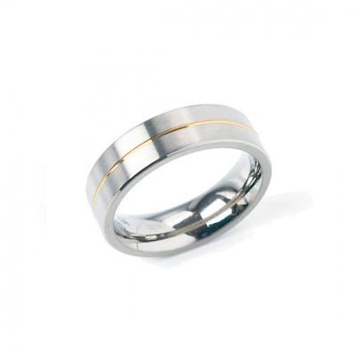 Foto van Titanium ring met doublé van Boccia 0101-21