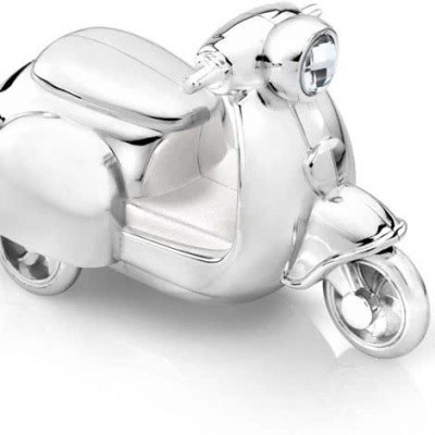 Zilverstad spaarpot scooter 7282261