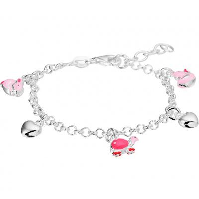 Armband hart en dieren 3,0 mm 13 + 2 cm