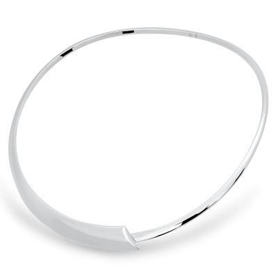Zilveren handgemaakte spang rond AG90006.12