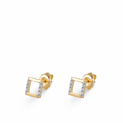 Foto van Gouden oorknoppen met zirkonia EDD01-3837