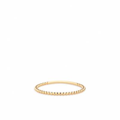 Gouden aanschuifring bolletjes RDE01-3138-01