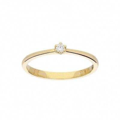 GLOW GOUDEN RING - GLANZEND - DIAMANT - 1-0.05CT - G/SI