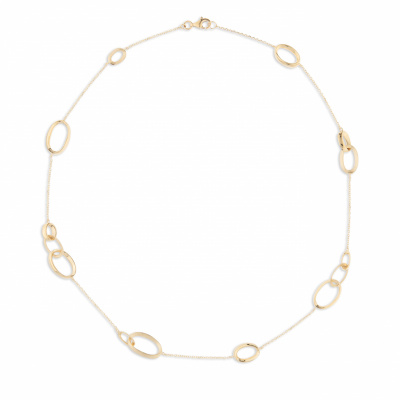 Italo Bottene 14 krt gouden collier glad en mat CO 0675-SAT