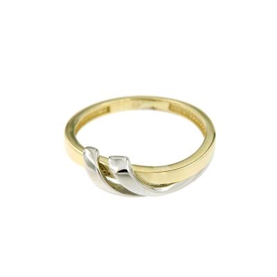 Bicolor gouden ring VIK0905