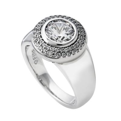 Foto van Diamonfire 814.0020 zilveren ring met zirkonia