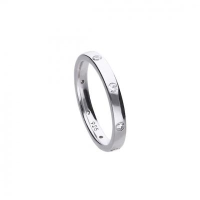 Foto van Diamonfire zilveren ring met zirkonia 61.1538.1082