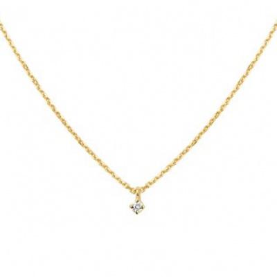 Collier diamant 0.03ct H SI 41 - 43 - 45 cm 40.18709