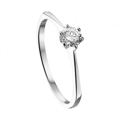 Witgouden ring met zirkonia 41.03152