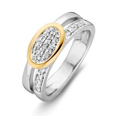 Foto van Ring zilver/goud zirkonia RF625964-56