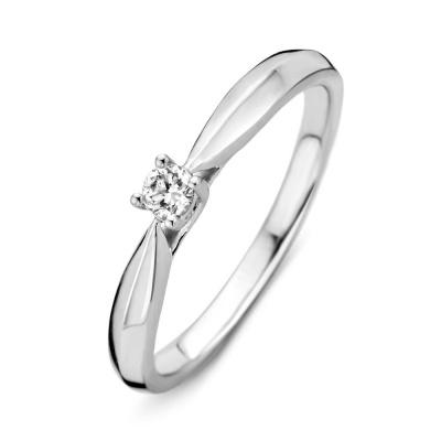 Witgouden ring met 0.09 crt diamant H/SI RG214898