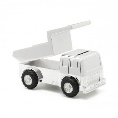 Spaarpot Truck, verzilverd gelakt 8126261