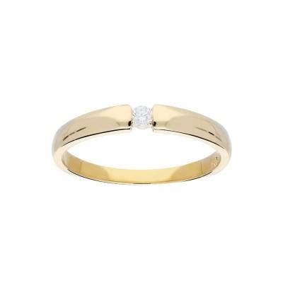 Foto van Glow gouden ring met glanzend diamant 1-0.06CT G/SI 214.2002
