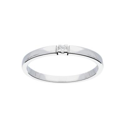 Foto van Glow witgouden ring met diamant solitaire - 1-0.02ct G/SI - witgoud 14kt - mt 54