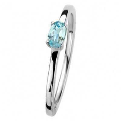 Foto van Ring blauw topaas 13.30304