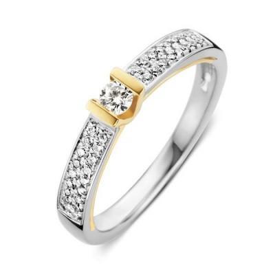 Foto van Ring bicolor briljant 0,26 crt RG416663