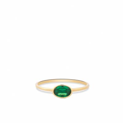 Geelgouden ring met zirkonia RDC01-4309