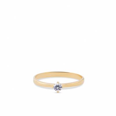 Foto van Geelgouden ring van Swing Jewels met witte zirkonia RMDD01-0525-56