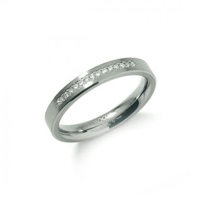 Foto van Titanium ring met diamant van Boccia 0120-04