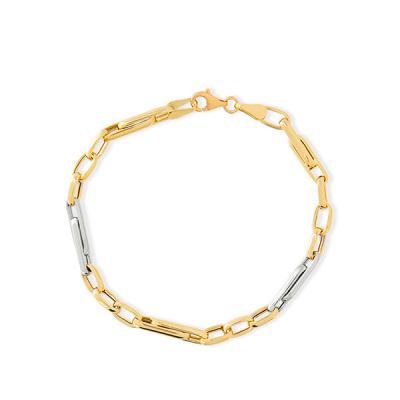 Foto van Bicolor gouden 14 krt armband BHC01-3475 van Swing Jewels