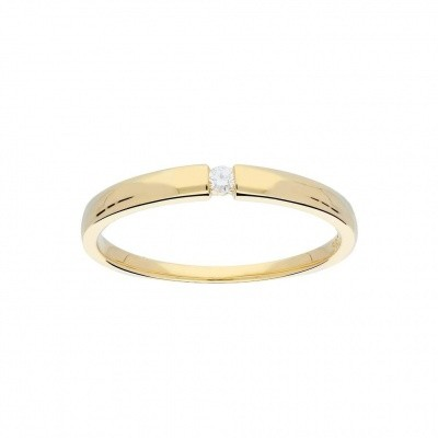 GLOW GOUDEN RING - GLANZEND - DIAMANT - 1-0.03CT - G/SI