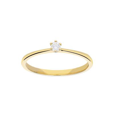 Ring Solitair dia 1-0.07 G-SI 214.2014.54