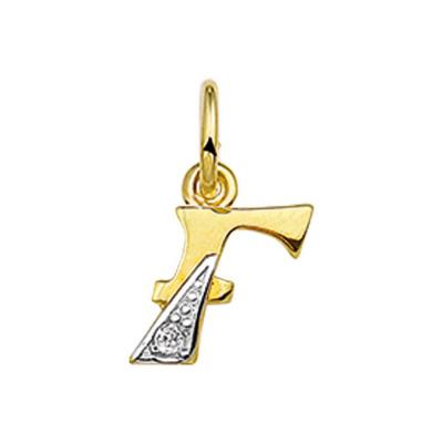 Hanger letter F diamant 0.01ct H P1 40.06280