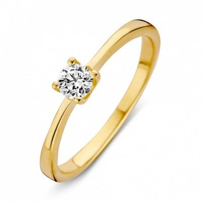 Ring geelgoud zirkonia RB125985 maat 52