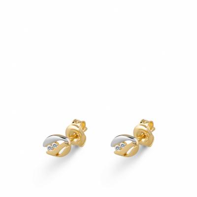 Foto van Gouden oorknoppen met zirkonia EDE01-3353