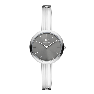 Danish Design IV64Q1262 Rosemary Grey gestreept armbandhorloge voor dames