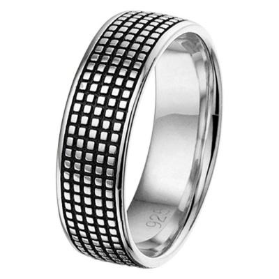 Zilveren Ring oxi heren 11.01307