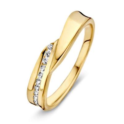 Ring geelgoud zirkonia RV126165
