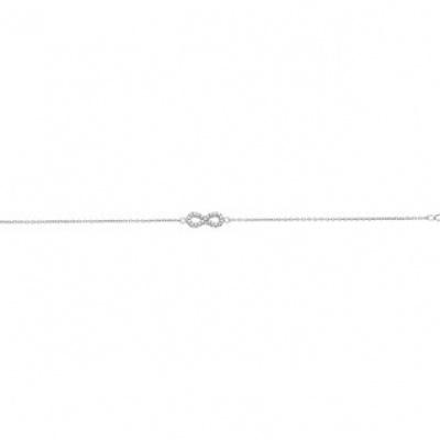 Armband infinity zirkonia 1,0 mm 16 + 2,5 cm 13.19520