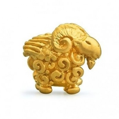 OHM Ram Golden Fleece AAA075G Limited Edition Bead of the Month April