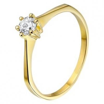 Foto van Geelgouden ring met zirkonia 40.14911