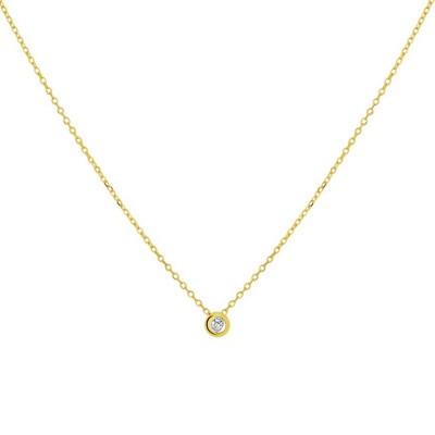 Collier diamant 0.02ct H SI 1,0 mm 45 cm