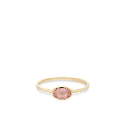 Foto van Geelgouden ring met ovale paarse zirkonia RDC01-4308-02
