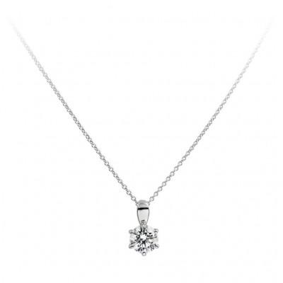 DIAMONFIRE ZILVEREN COLLIER DIAMONFIRE - 1.00 CT - 6.25 MM - 45 CM 803.0033.45