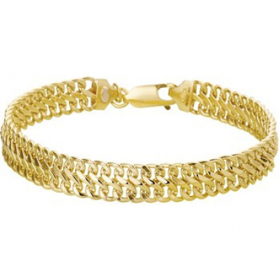 Gouden armband gourmet dubbel 8 mm 50.00120