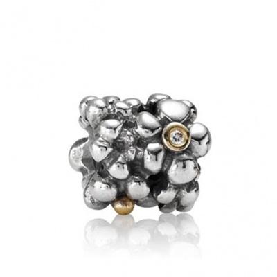 Pandora 790317D zilver met goud bedel