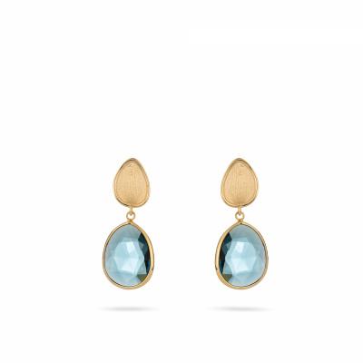 Italo Bottene 14 krt gouden oorsieraden met London Blue Topaas OR2145LB
