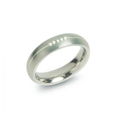 Foto van Titanium ring met diamant van Boccia 0130-03