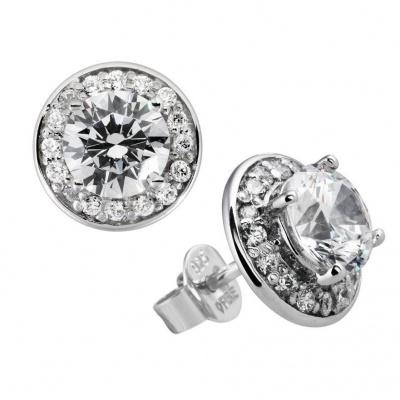 Foto van Diamonfire zilveren oorknoppen met zirkonia 806.0055.00