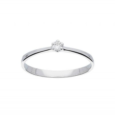 GLOW WITGOUDEN RING - 214.3005.52 - GLANZEND - DIAMANT - 0.05CT. - GH/SI3